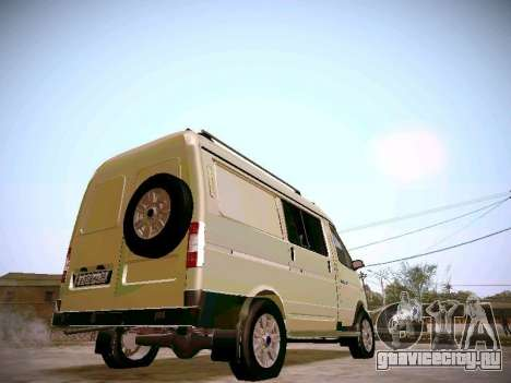 ГАЗ 2217 Бизнес для GTA San Andreas вид сзади слева