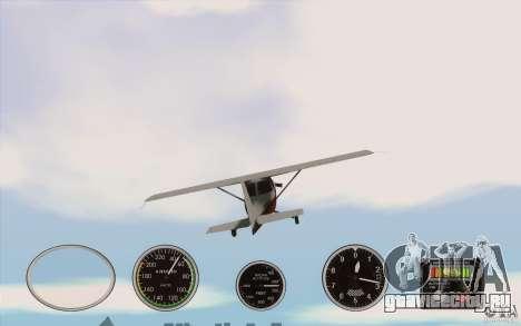 Авиа приборы в самолете для GTA San Andreas третий скриншот
