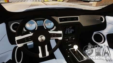 Ford Shelby GT500 2013 для GTA 4 вид сзади