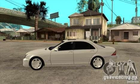 Mercedes Benz S600 для GTA San Andreas вид слева
