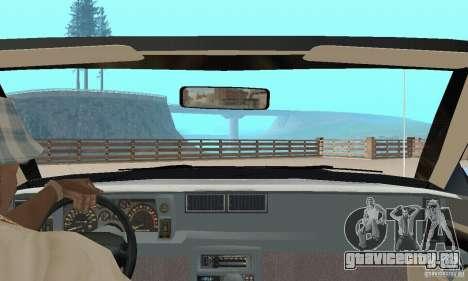 Chevrolet Camaro RS 1991 Convertible для GTA San Andreas вид изнутри