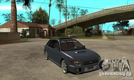 Subaru Impreza Universal для GTA San Andreas вид сбоку