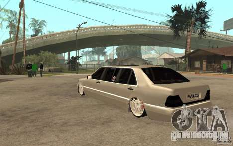 Mercedes-Benz S600 V12 W140 1998 VIP для GTA San Andreas вид сзади слева