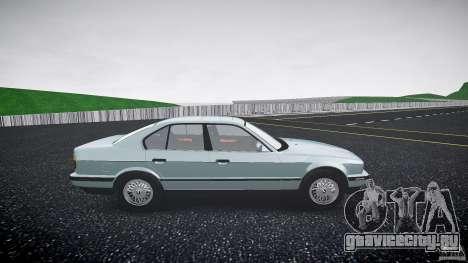BMW 535i E34 для GTA 4 вид сзади