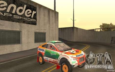 Mitsubishi Racing Lancer для GTA San Andreas вид сзади