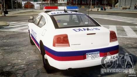 Dodge Charger Karachi City Police Dept Car [ELS] для GTA 4 вид сзади слева