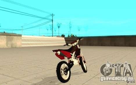 GTAIV Sanchez для GTA San Andreas вид сзади слева