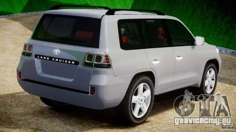 Toyota Land Cruiser 200 2007 для GTA 4 вид справа