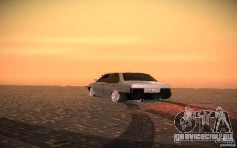 ВАЗ 21099 LifeStyle Tuning для GTA San Andreas вид изнутри