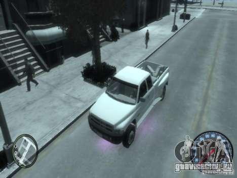 Dodge Ram 3500 для GTA 4 вид сзади