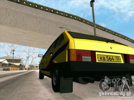 ВАЗ 21093i ТМК Форсаж для GTA San Andreas вид сверху