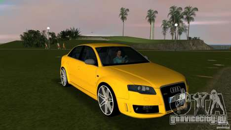 Audi RS4 для GTA Vice City вид сзади