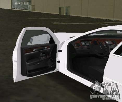 Lincoln Town Car для GTA Vice City вид сзади