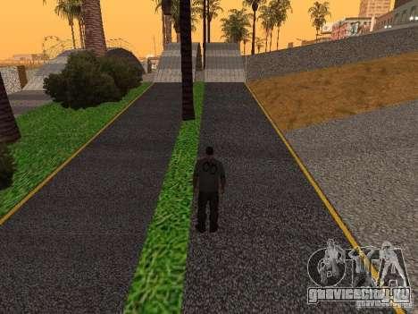 HD Пляж Санта Мария для GTA San Andreas восьмой скриншот