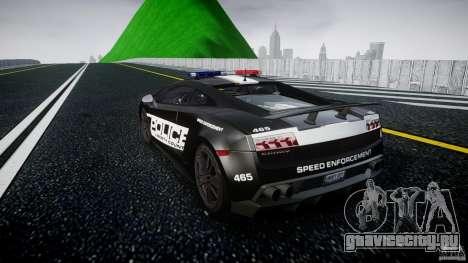 Lamborghini Gallardo LP570-4 Superleggera 2011 для GTA 4 вид сзади слева