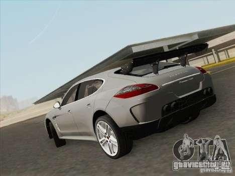 Porsche Panamera Turbo 2010 для GTA San Andreas вид слева