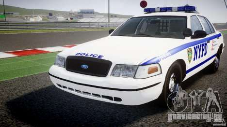 Ford Crown Victoria NYPD [ELS] для GTA 4 вид сбоку