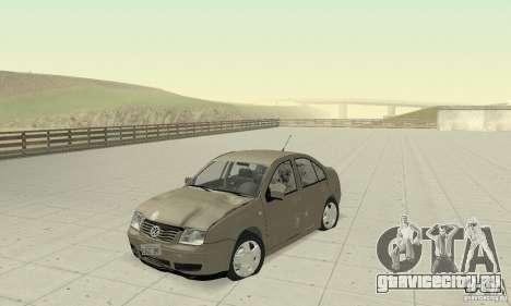 Volkswagen Bora Stock для GTA San Andreas вид изнутри