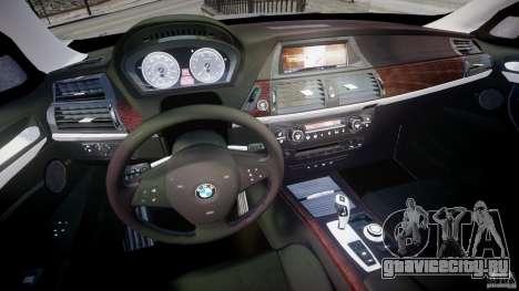 BMW X5 xDrive 4.8i 2009 v1.1 для GTA 4 вид сзади