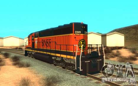 Локомотив SD 40 Union Pacific BNSF для GTA San Andreas вид сзади слева