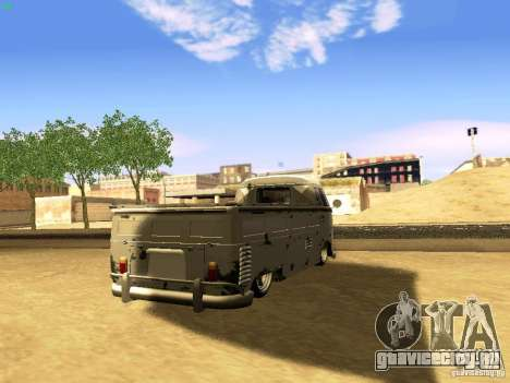 Volkswagen Type 2 Single Cab Rat для GTA San Andreas вид слева