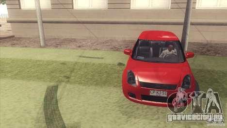 Suzuki Swift versión Chilena для GTA San Andreas вид сзади