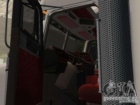 Freightliner FLD120 Classic XL Midride для GTA San Andreas вид сзади