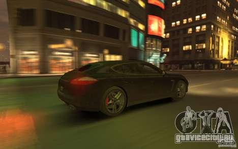 Porsche Panamera Turbo для GTA 4 вид сверху