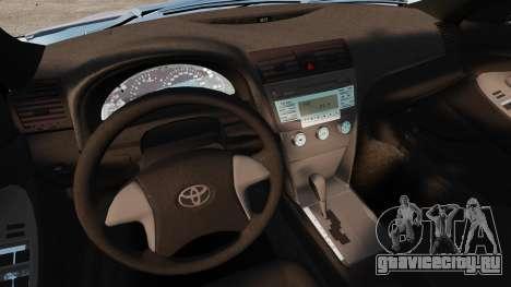 Toyota Camry Altise 2009 для GTA 4 вид сверху
