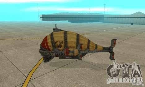 Дирижабль из TimeShift для GTA San Andreas вид сзади слева