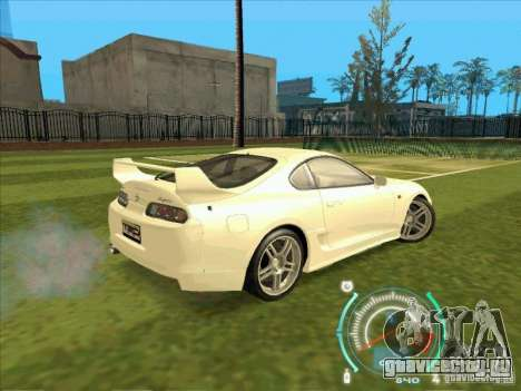 Toyota Supra from 2 Fast 2 Furious для GTA San Andreas вид изнутри