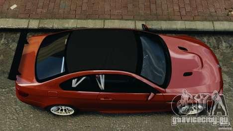 BMW M3 GTS 2010 для GTA 4 вид справа