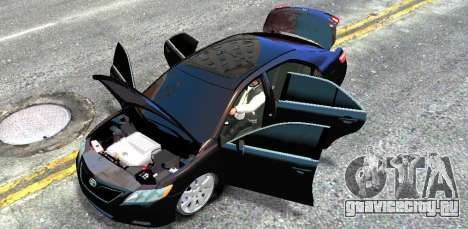 Toyota Camry V6 3.5 2007 для GTA 4 вид изнутри