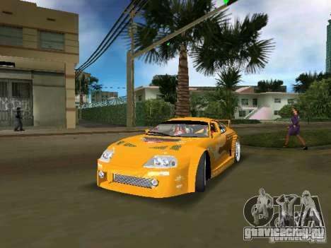 Toyota Supra для GTA Vice City вид сзади