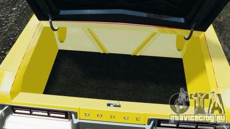Dodge Monaco 1974 Taxi v1.0 для GTA 4 вид снизу