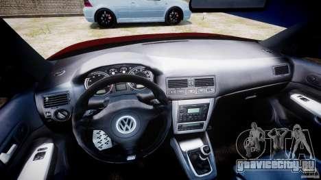 Volkswagen Golf IV R32 v2.0 для GTA 4 вид сзади