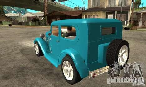 Ford A 1928 Hotrod для GTA San Andreas вид сзади слева