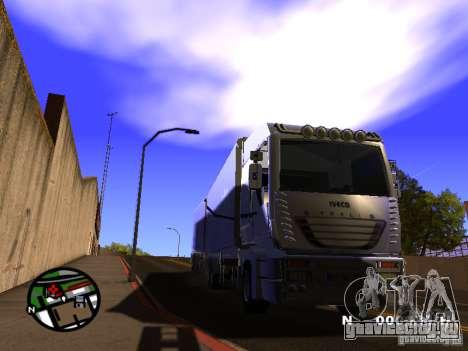 Iveco Stralis для GTA San Andreas вид сзади слева