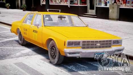 Chevrolet Impala Taxi 1983 [Final] для GTA 4 вид слева