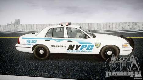 Ford Crown Victoria v2 NYPD [ELS] для GTA 4 вид изнутри