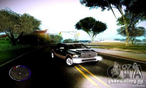 Dodge Ram для GTA San Andreas вид справа