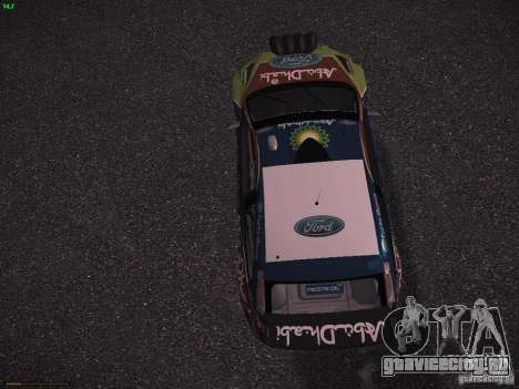 Ford Focus RS WRC 2010 для GTA San Andreas вид изнутри