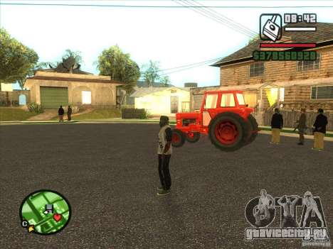 Трактор для GTA San Andreas вид слева
