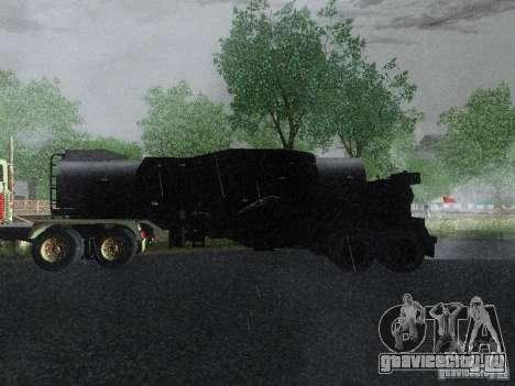 Прицеп к Armored Mack Titan Fuel Truck для GTA San Andreas вид слева