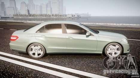 Mercedes-Benz E63 2010 AMG v.1.0 для GTA 4 вид сбоку