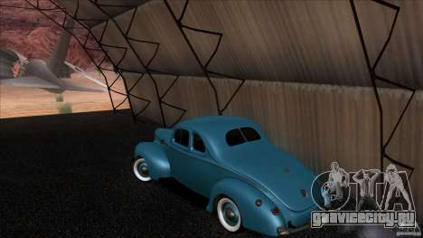 Ford Deluxe Coupe 1940 для GTA San Andreas вид сзади слева