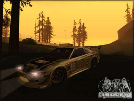 Nissan Silvia S15: Kei Office D1GP для GTA San Andreas вид слева