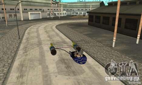 Star Wars Racer для GTA San Andreas вид сзади слева