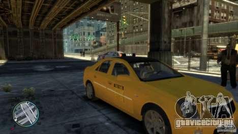 Cadillac CTS-V Taxi для GTA 4 вид сзади слева