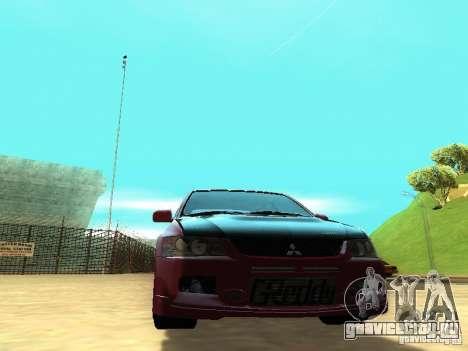 Mitsubishi Lancer IX MR для GTA San Andreas вид сзади